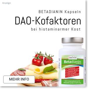 Betadianin Diaminoxidase Kofaktoren bei Histaminintoleranz