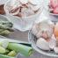 Präbiotika: Knoblauch, Zwiebeln, Lauch
