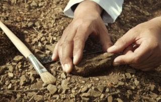 Ausgrabungen Stein Pinsel