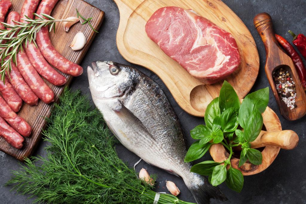 Zutaten für ein frisches ausgewogenes Essen