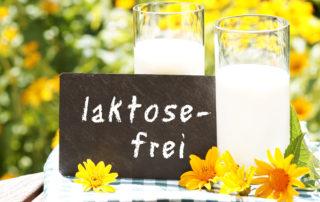 Ein Glas milch Laktosefrei